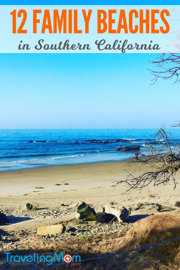 Pack up and head to the beach. Here are 12 beaches in Southern California perfect for families. Find tide pools, waves to chase, sand volleyball and even surf lessons. #California #Familytravel #TMOM