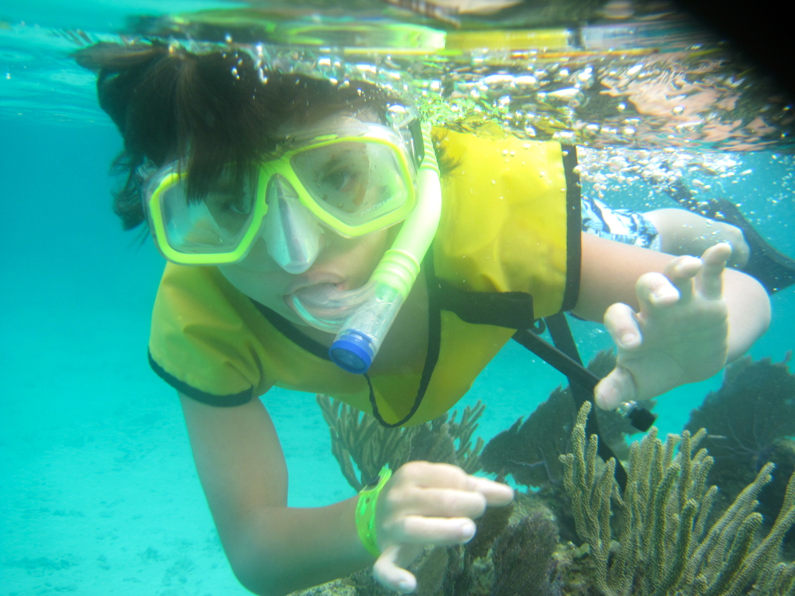 Best Beaches in Central America for Families: Family snorkeling tour in Utila, Honduras.