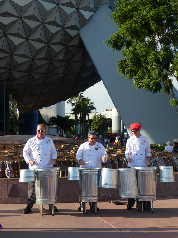Taking toddlers to Epcot at Disney World? Check out these fun street musicians.