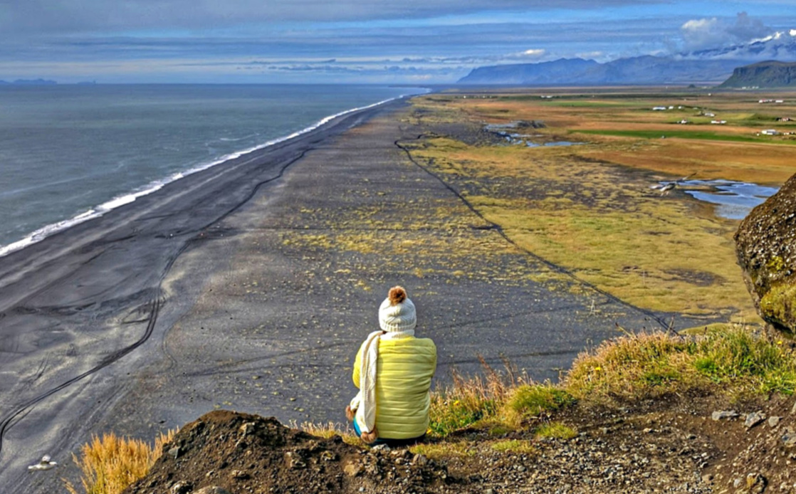 Packing for Iceland. Black beach in south Iceland.