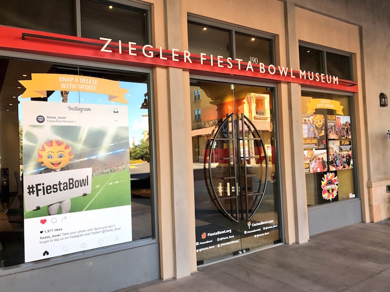Check out the Ziegler Fiesta Bowl Museum, one of the free things to do in Scottsdale