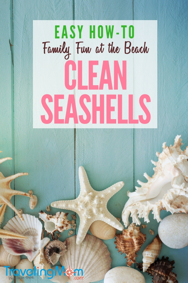 What to do with seashells once you've gotten them home? First, you need to clean them. Here's how. Then what? Here are a few simple ways to enjoy them for family beach vacation memories. #diy #simplecraftideas #familyfun