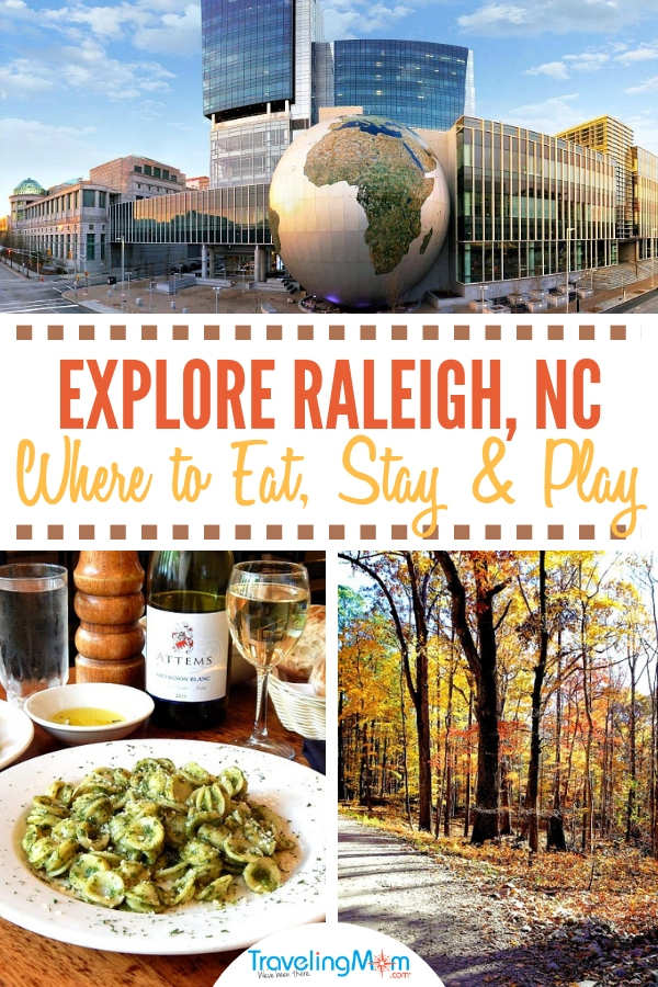 Planning a vacation to Raleigh, North Carolina? Here are the top downtown hotels and restaurants plus fun things to do for all ages. #skyline #attractions #nightlife