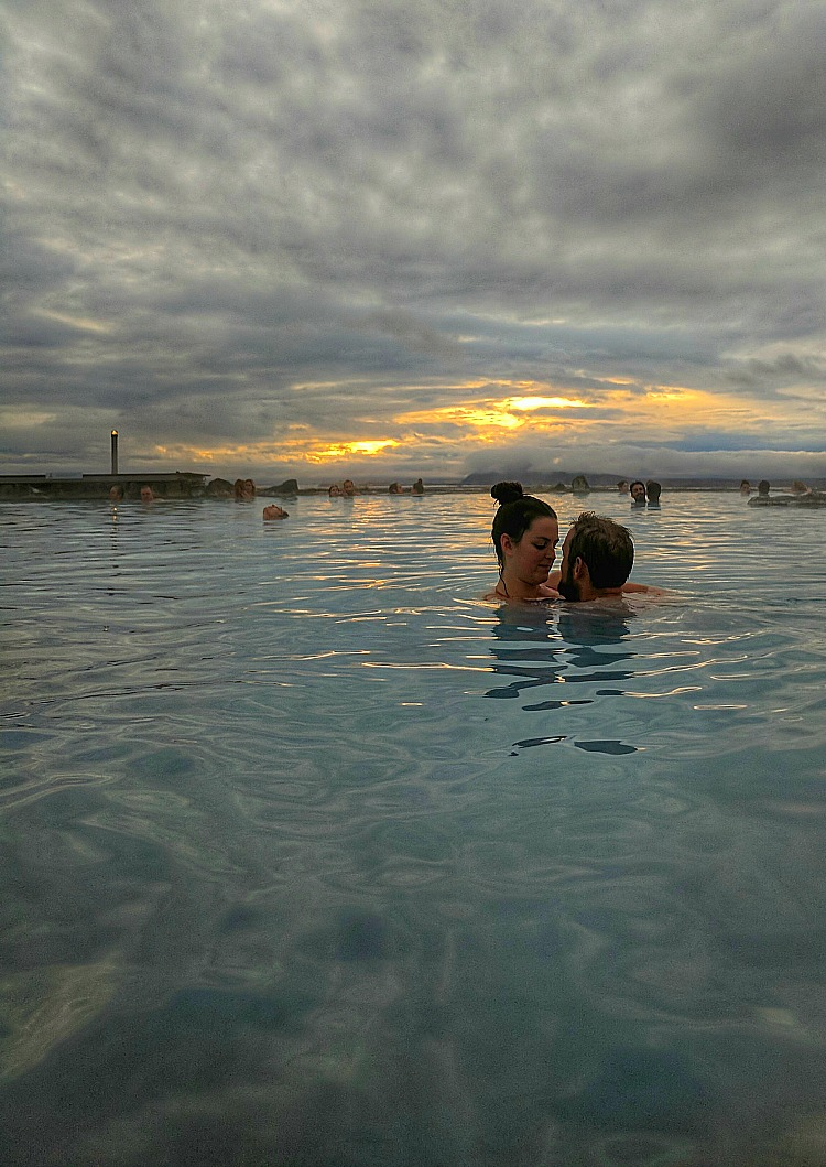 Reasons to visit Myvatn Nature Baths in Iceland. See the sunset and meet the locals.