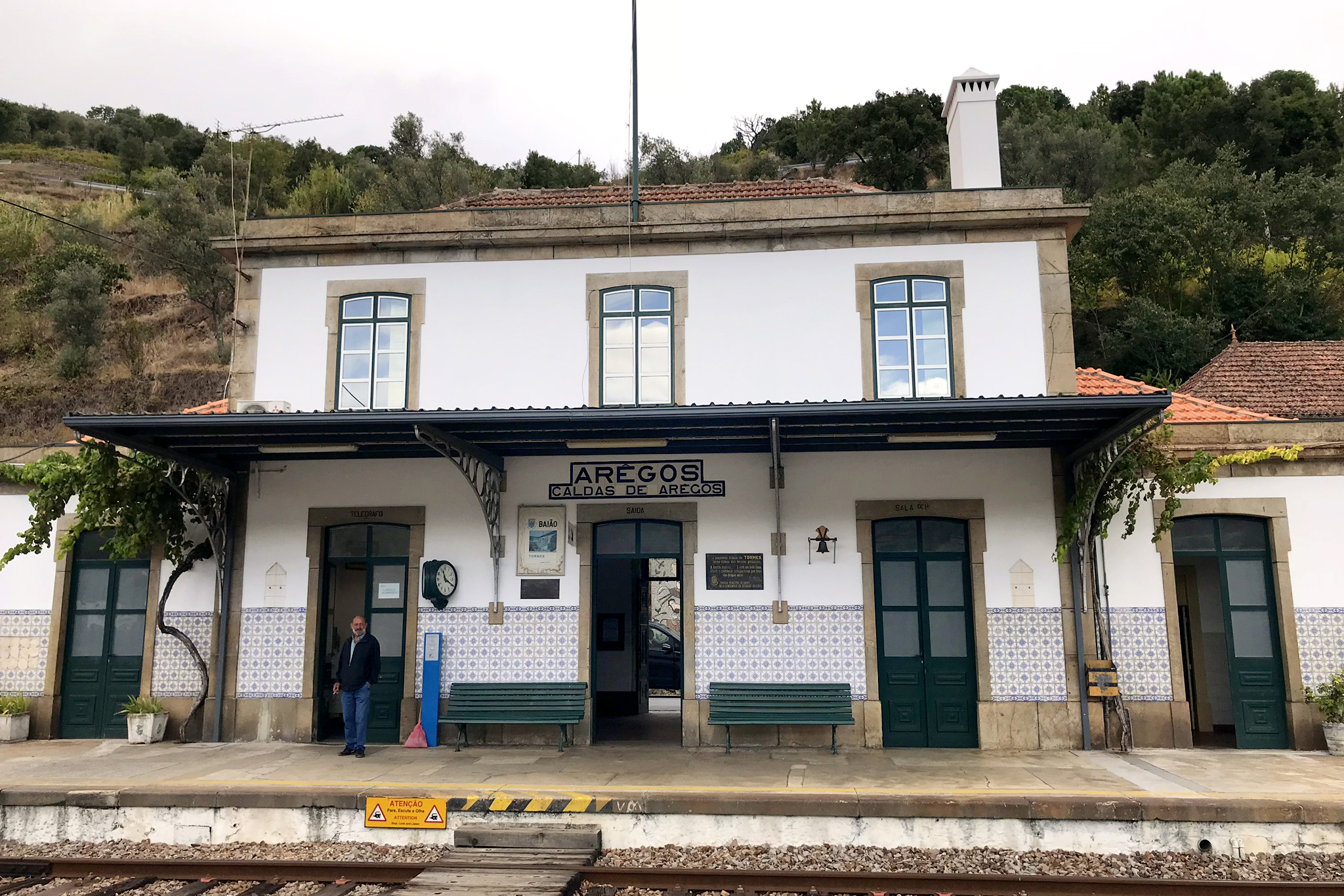 One of the quaint train stations in the Douro Valley