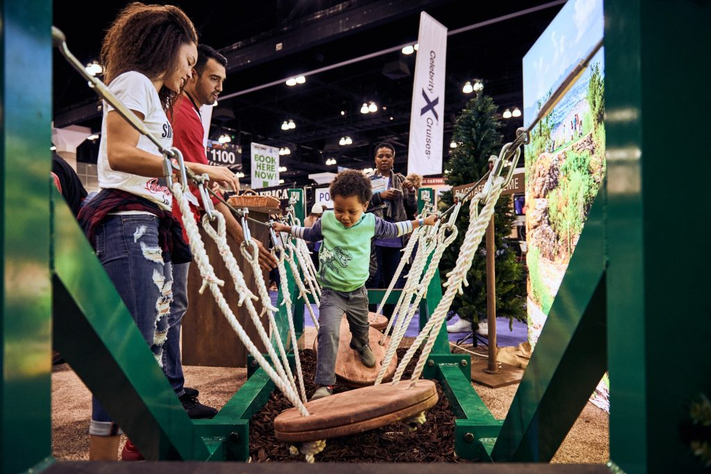 Families can get travel ideas at the nine Travel & Adventure Shows around the U.S.