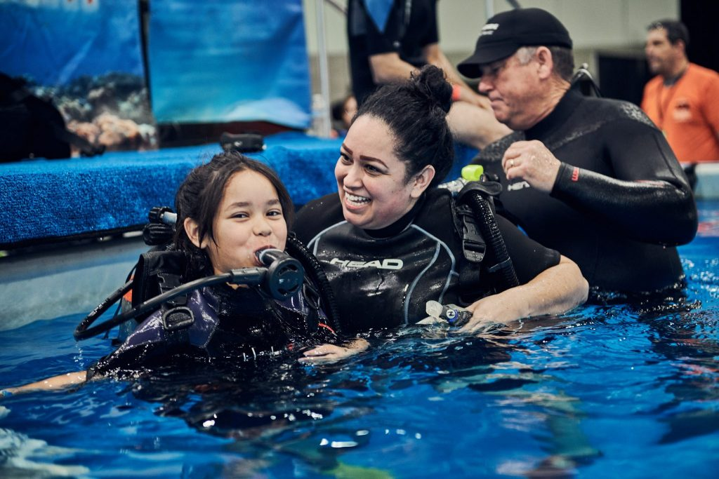 Free scuba diving lessons are offered as part of the Travel & Adventure Show. Photo courtesy of the Travel & Adventure Show.