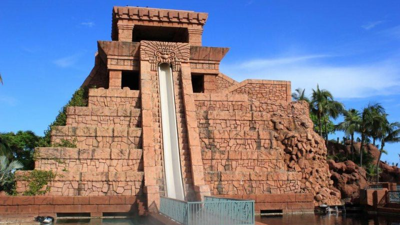 The high-speed water slides at Atlantis Resort Bahamasid common high-speed slide bumps and bruises. #atlantis #water #slide #bahamas #paradise #island