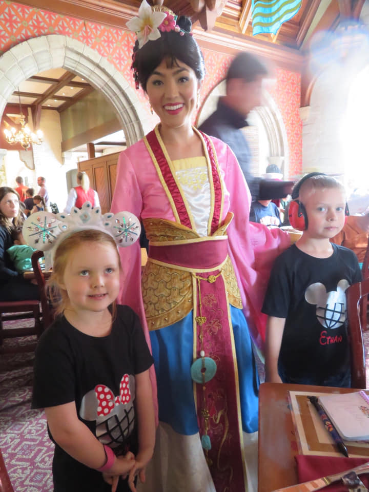 If you are really lucky, you might see Mulan at Disney Storybook Princess Dining at Akershus Royal Banquet Hall at EPCOT