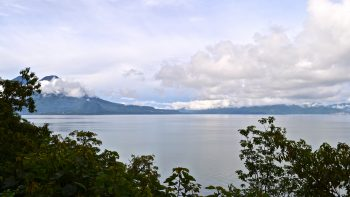 View from hour hotel at Atitlan Lake, Guatemala.