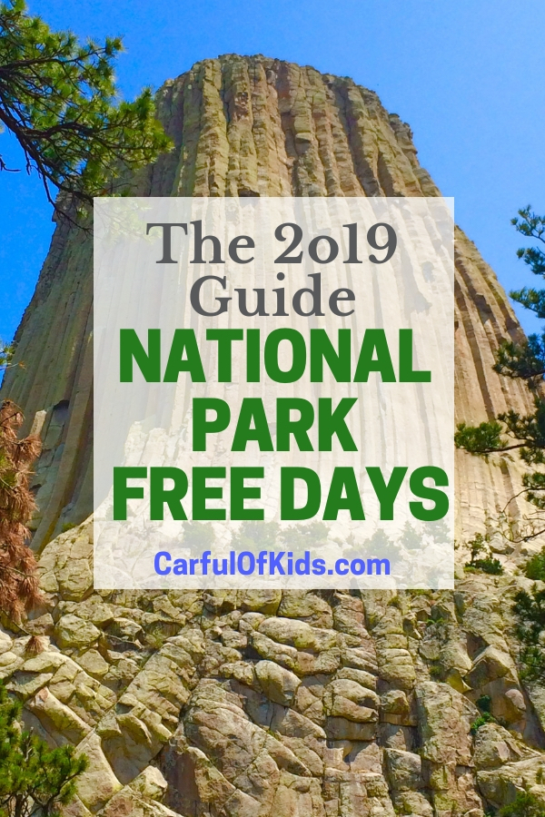 Explore a park for free this year with the National Park Free Days for families in 2019. Pack a picnic, take a hike and earn a Junior Ranger Badge. #TMOM #NPS #NationalParks