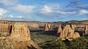 Colorado National Monument, located outside of Grand Junction, Colorado has free entrance for fourth graders through the Every Kid in a Park program.