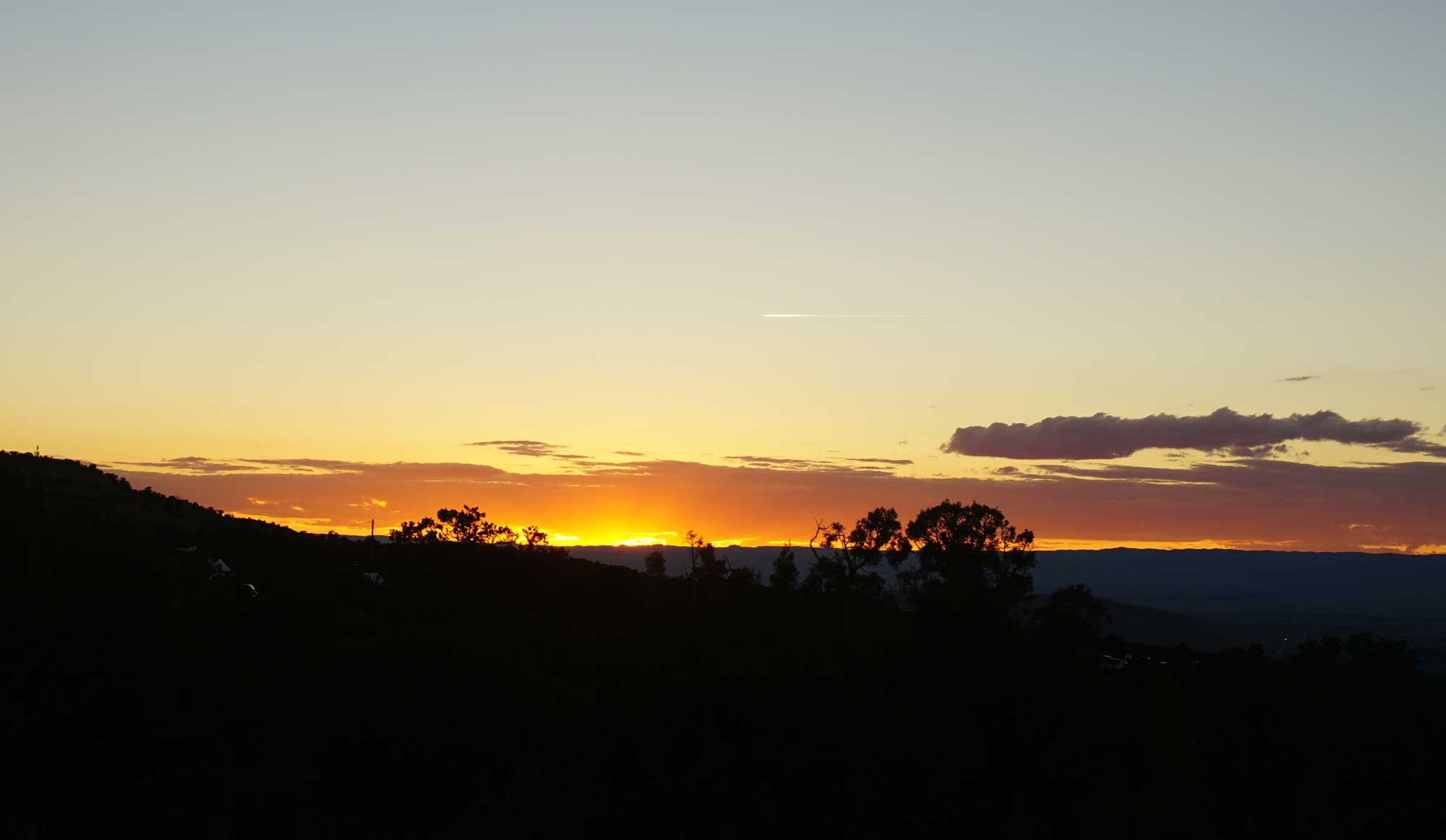 Sunset views are always free, and can be spectacular in Grand Junction, Colorado.