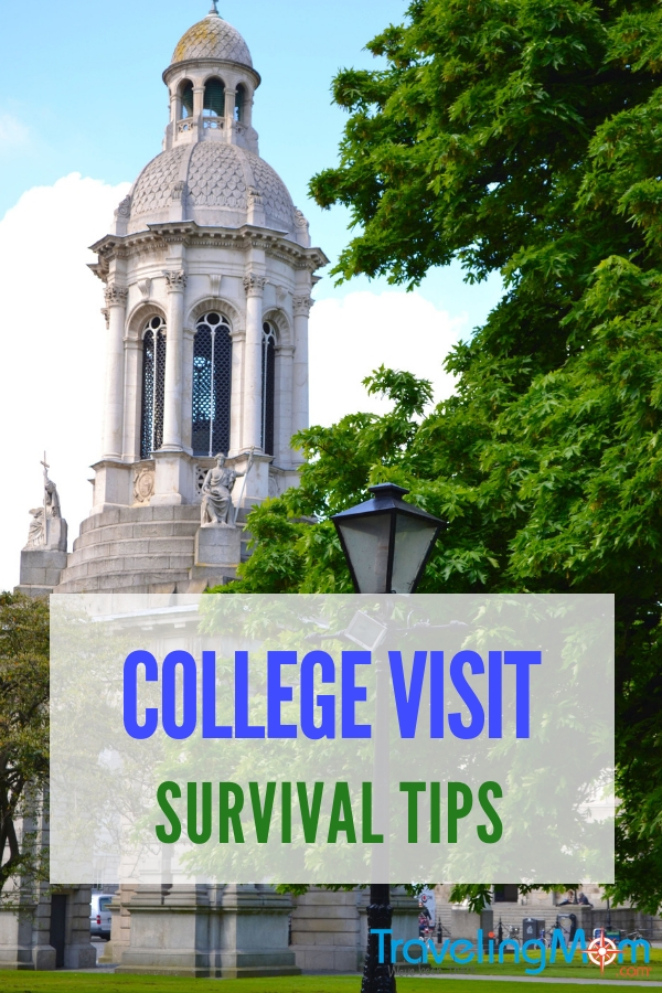 College Visit survival tips from TravelingMoms who have been there. They offer advice on how to make the most of #college visits. #family #travel