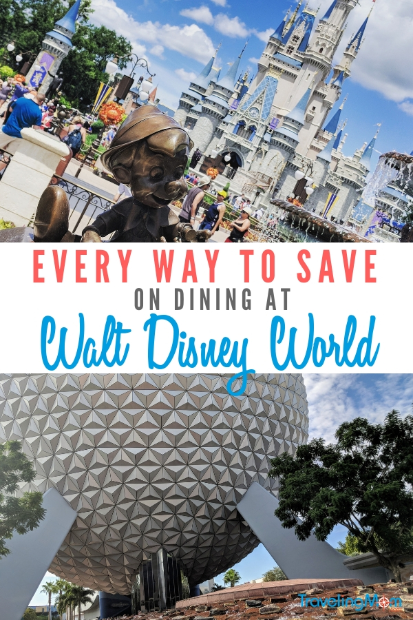 Learn how to save on your next Disney World vacation with these Walt Disney World dining discounts! #TMOM #DisneyWorld #Disneydining #familytravel #Disneydiscounts