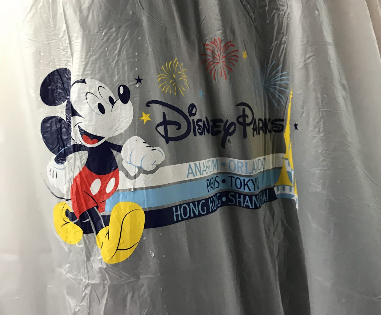 Disney Parks rain poncho can be a fun souvenir for Disney in the rain.