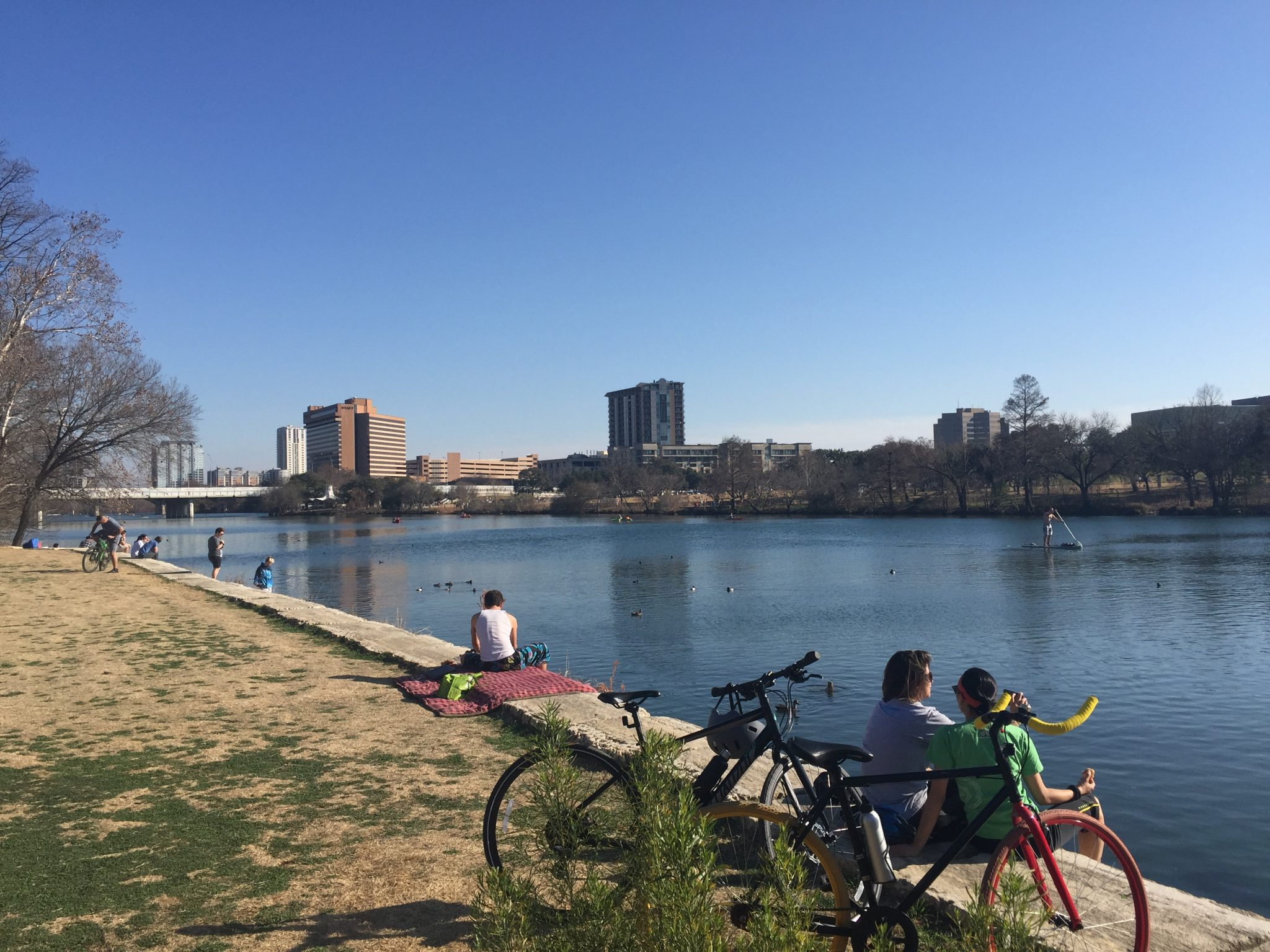 Fun things to do in Austin, Texas include enjoying its downtown waterfront hiking trail.