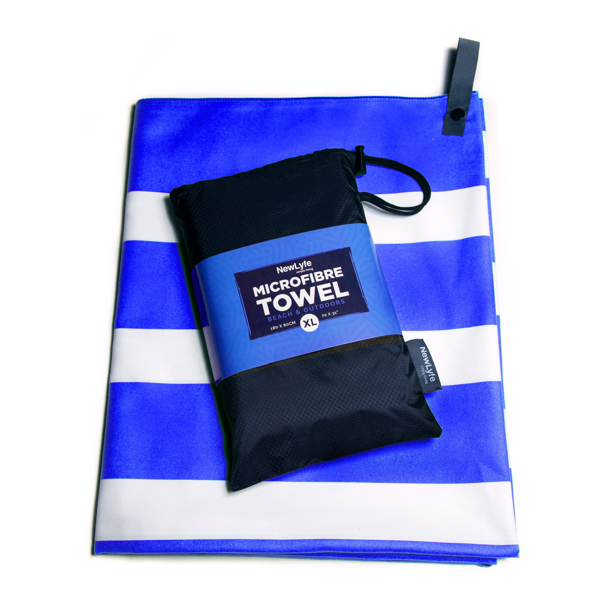 Big surprise in little stocking stuffers - a beach towel that fits in our family's standard stockings.