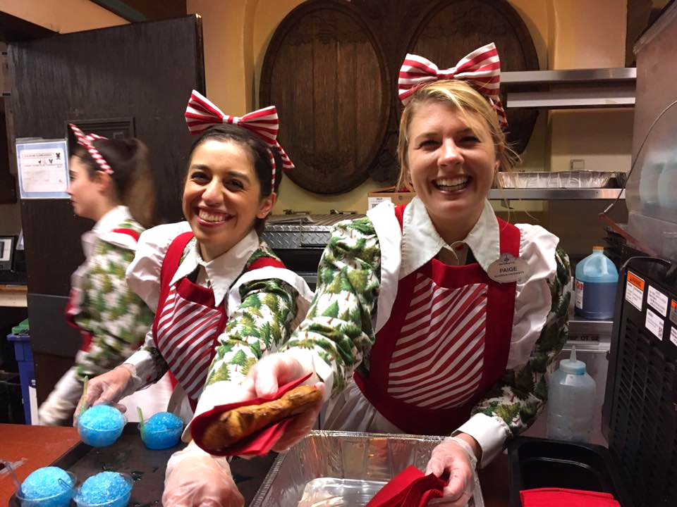 Guests get free holiday treats during Mickey's Very Merry Christmas Party.