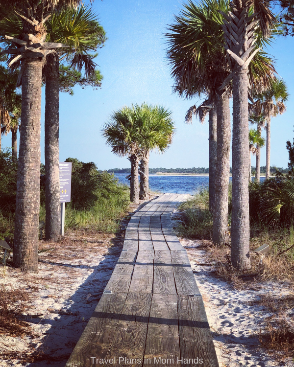 Where to stay in Panama City Beach? Try the Sheraton Bay Point Resort and this delightful path leading to Bay Beach, a private beach area.