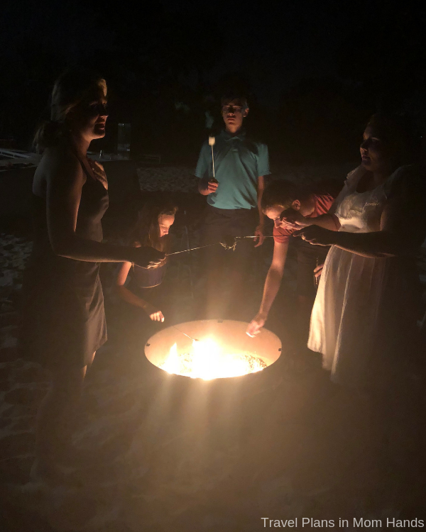 Our teens loved making s'mores on the beach at The Sheraton Bay Point Resort in Panama City Beach.