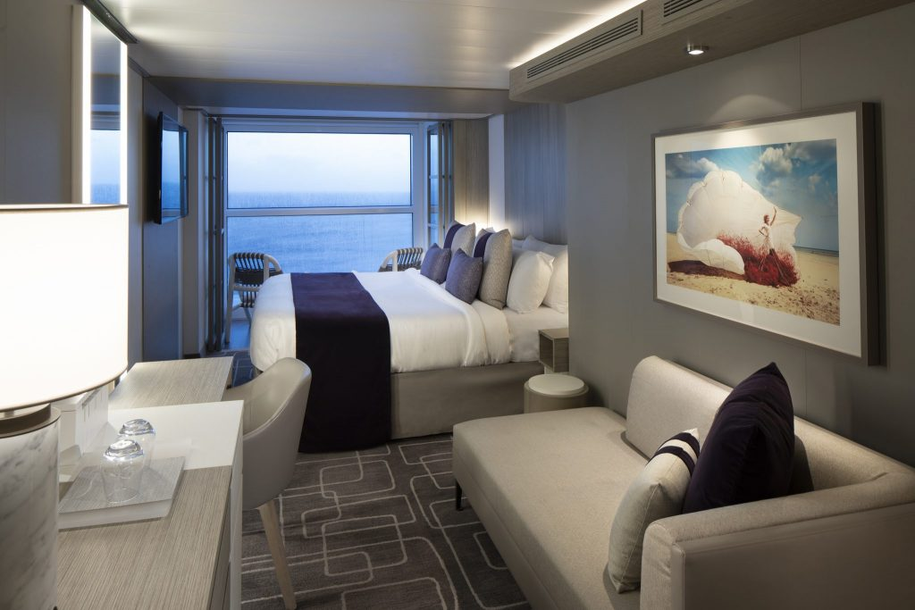 The spacious stateroom with the infinite veranda is one of the reasons why the Celebrity Edge blows all other cruise ships out of the water