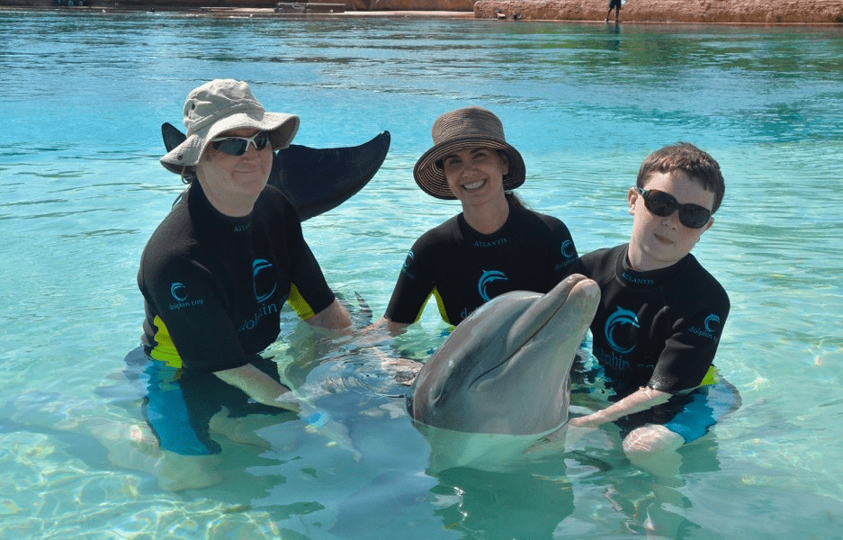 Swimming with the dolphins at Atlantis Resort Bahamas