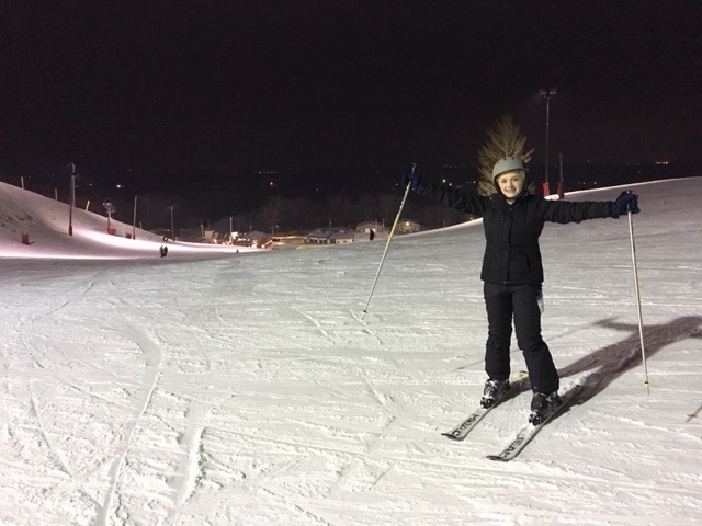Skiing at Wilmot Ski Resort.