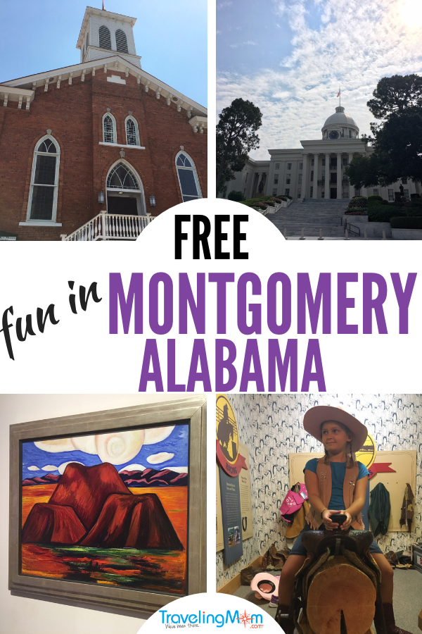 Montgomery Alabama is full of free fun. We name off our top ten picks. #travelingmom #thingstodo #montgomeryalabama #montgomery #downtownmontgomery