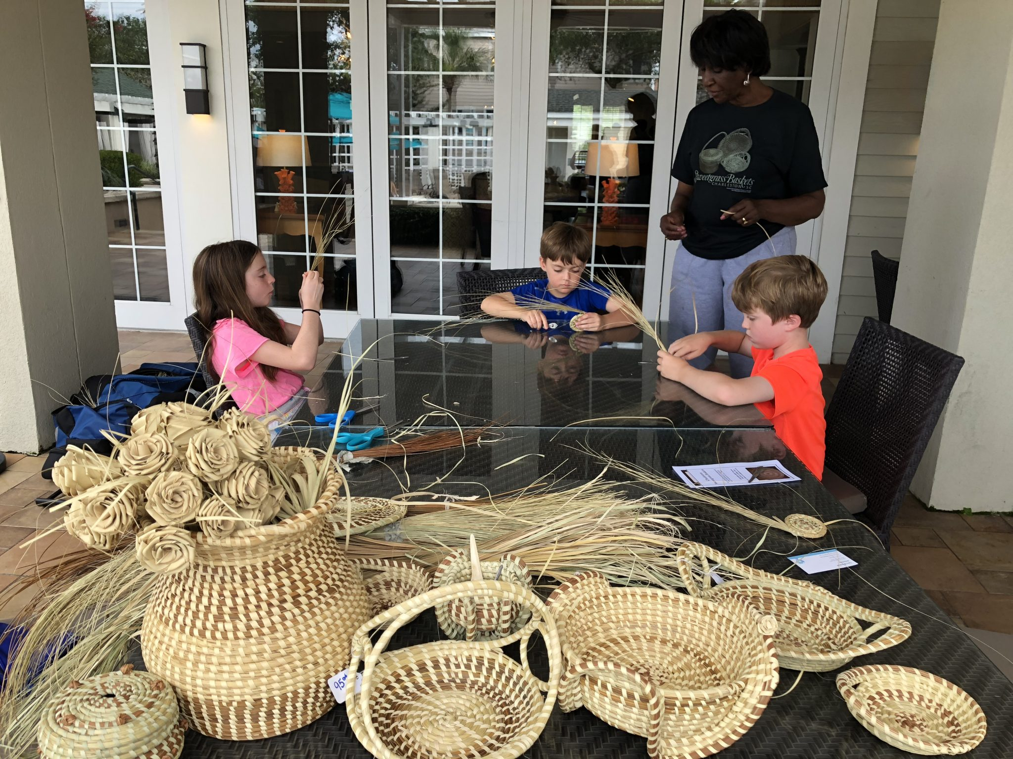 Sweetgrass basket weaving at Wild Dunes Resort, one of South Carolina's Best Family Resorts on TravelingMom.
