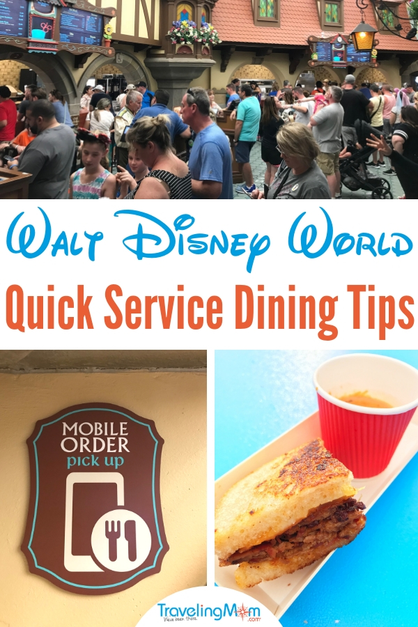 Want to know how to skip the quick service line? We know the easiest way! Read out best tips for Disney World Quick Service dining, and you'll be back on your way to fun in no time. #disneytips #waltdisneyworld #disneydining #tmom #diningplan #quickservicedining #disneytravel