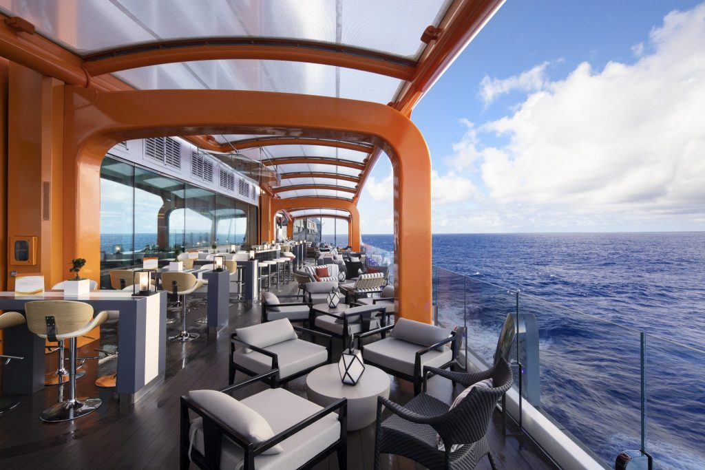 The Magic Carpet cantilevered floating deck is one of the reasons why the Celebrity Edge blows all other cruise ships out of the water
