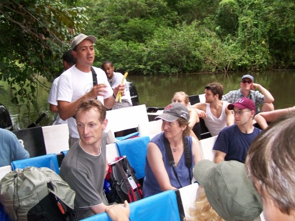 Magrove tour of the boat tour of the mangroves at Tortuguero, Costa Rica.