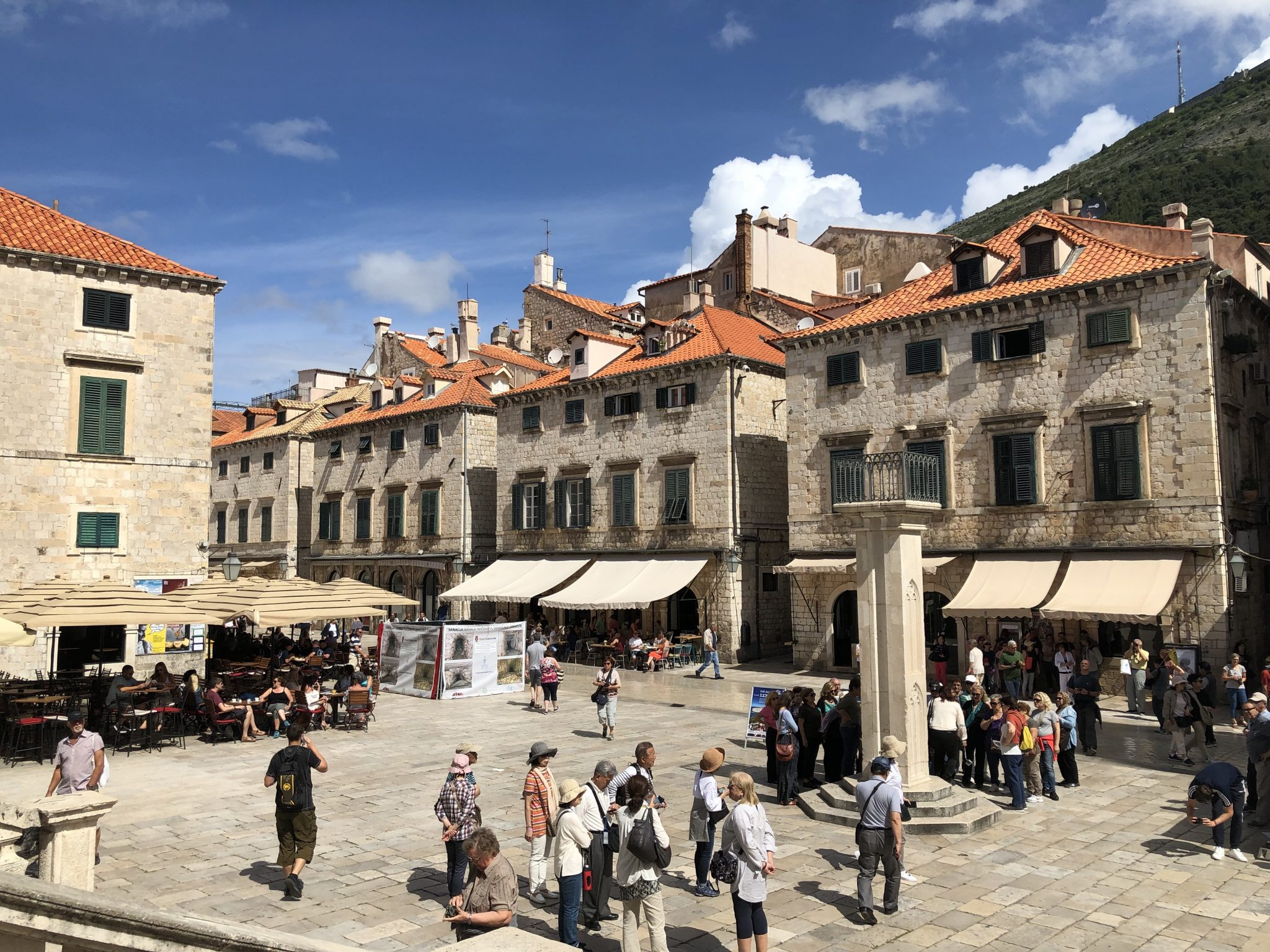Scenes filmed for Game of Thrones in Dubrovnik includes many on the city's main street