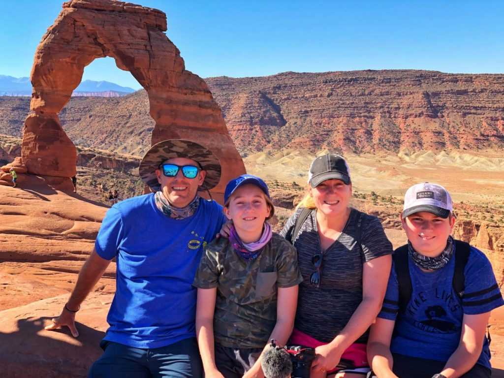 family national park trip at Arches National Park