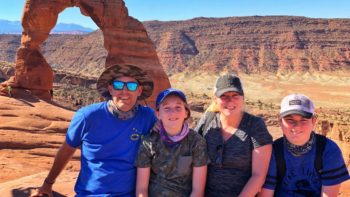 family at Arches National Park