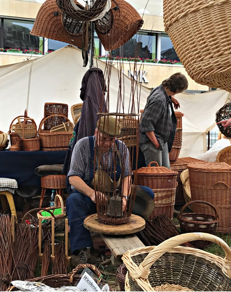 Watch a basket weaver at work when visiting Germany with teens