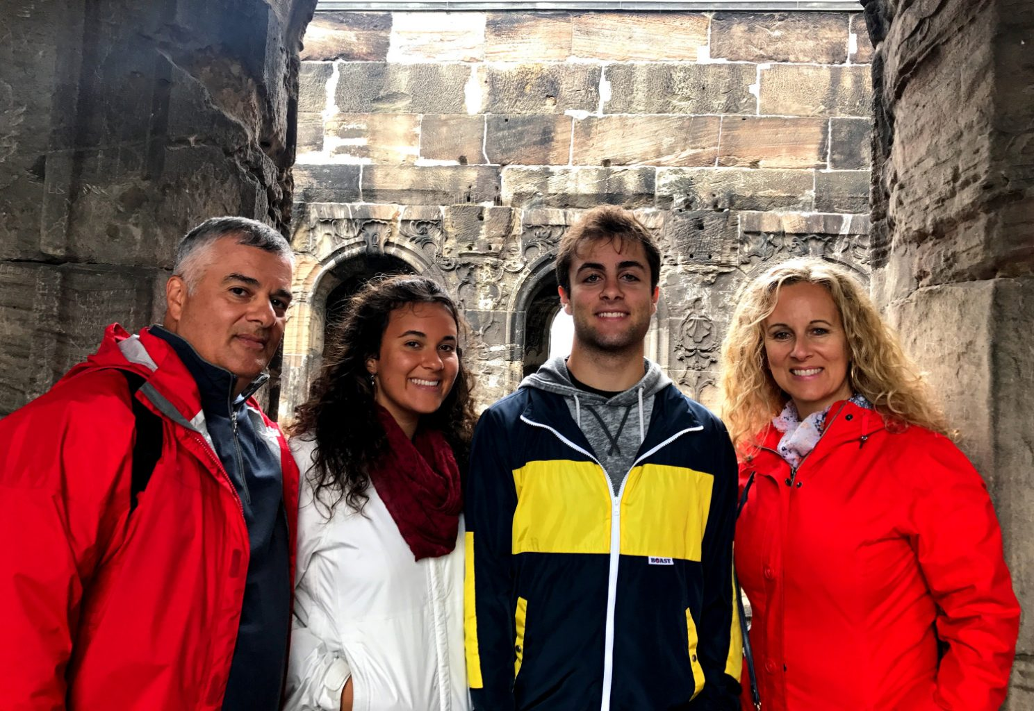 Enjoying German with teens - family photo in Trier