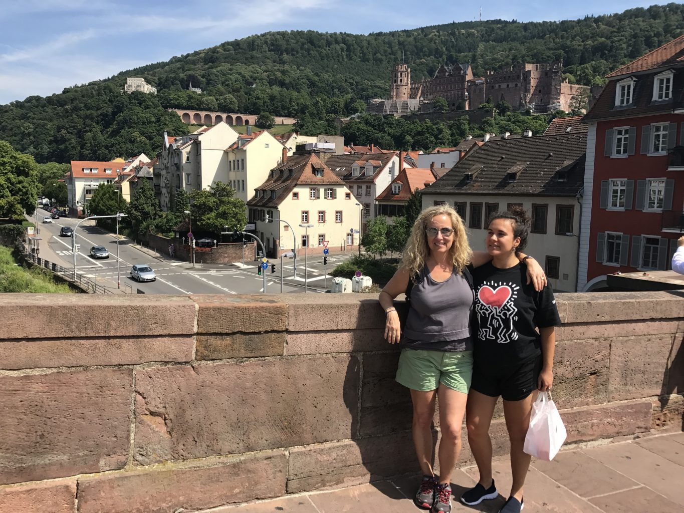 Mother and daughter visiting Heidelberg on Inside Europe tours