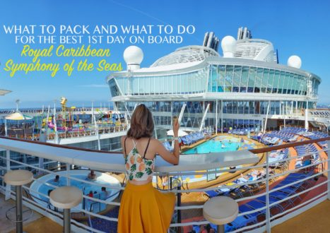 What to pack for a cruise best 1st day on Royal Caribbean Symphony of the Seas