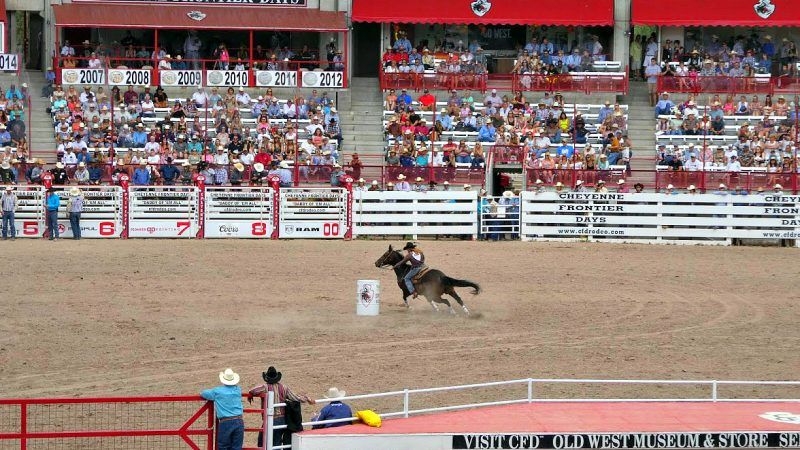 Experience the old west in Cheyenne, Wyoming, by including tickets to the Cheyenne Frontier Days Rodeo.
