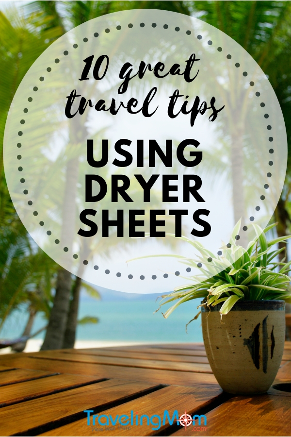A family vacation at the beach? Pack dryer sheets for easy sand clean-up! It's just one way to use dryer sheets for #family #travel. #hacks