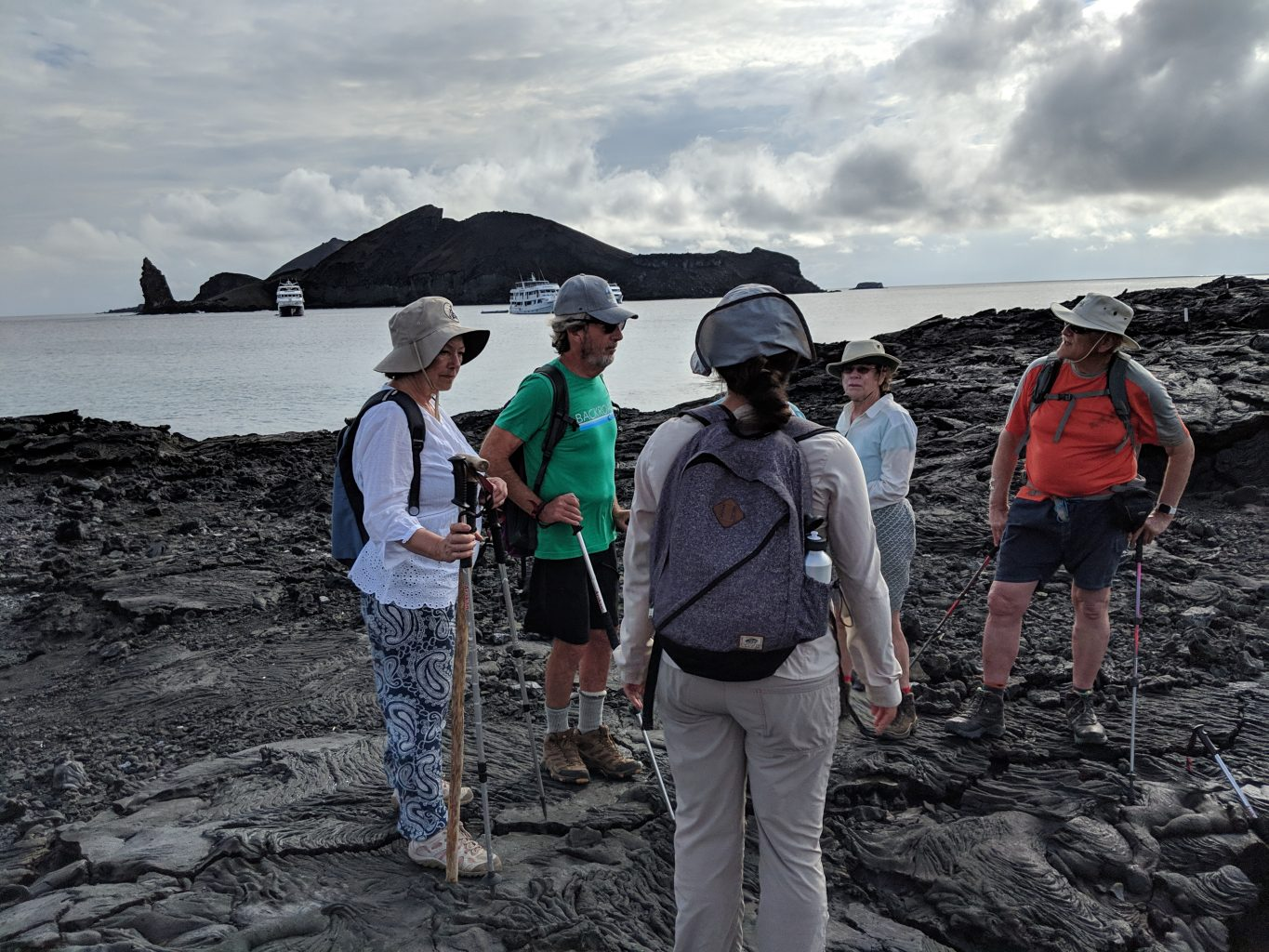 Expect to be socialable on a Galapagos Island cruise.