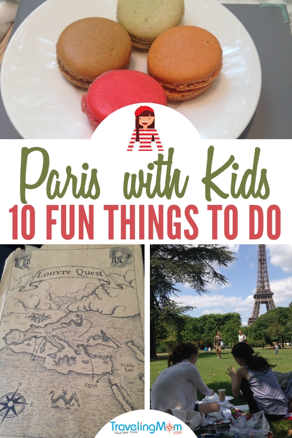 Taking the kids to Paris? Here's a list of ten of the most fun things to do in the City of Lights including Seine boat tours and info about the scavenger hunt at the Louvre! #familytravel #europewithkids #kidfriendly