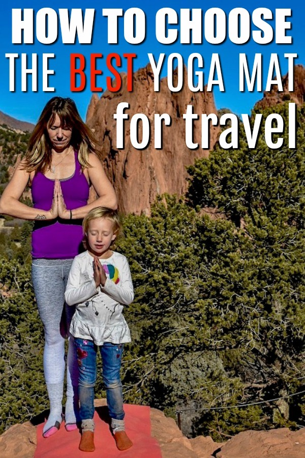 Yoga mats for travel come in kid sizes too.