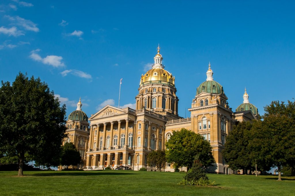 Tour the Iowa State Capitol Building, one of the free things to do in Des Moines.