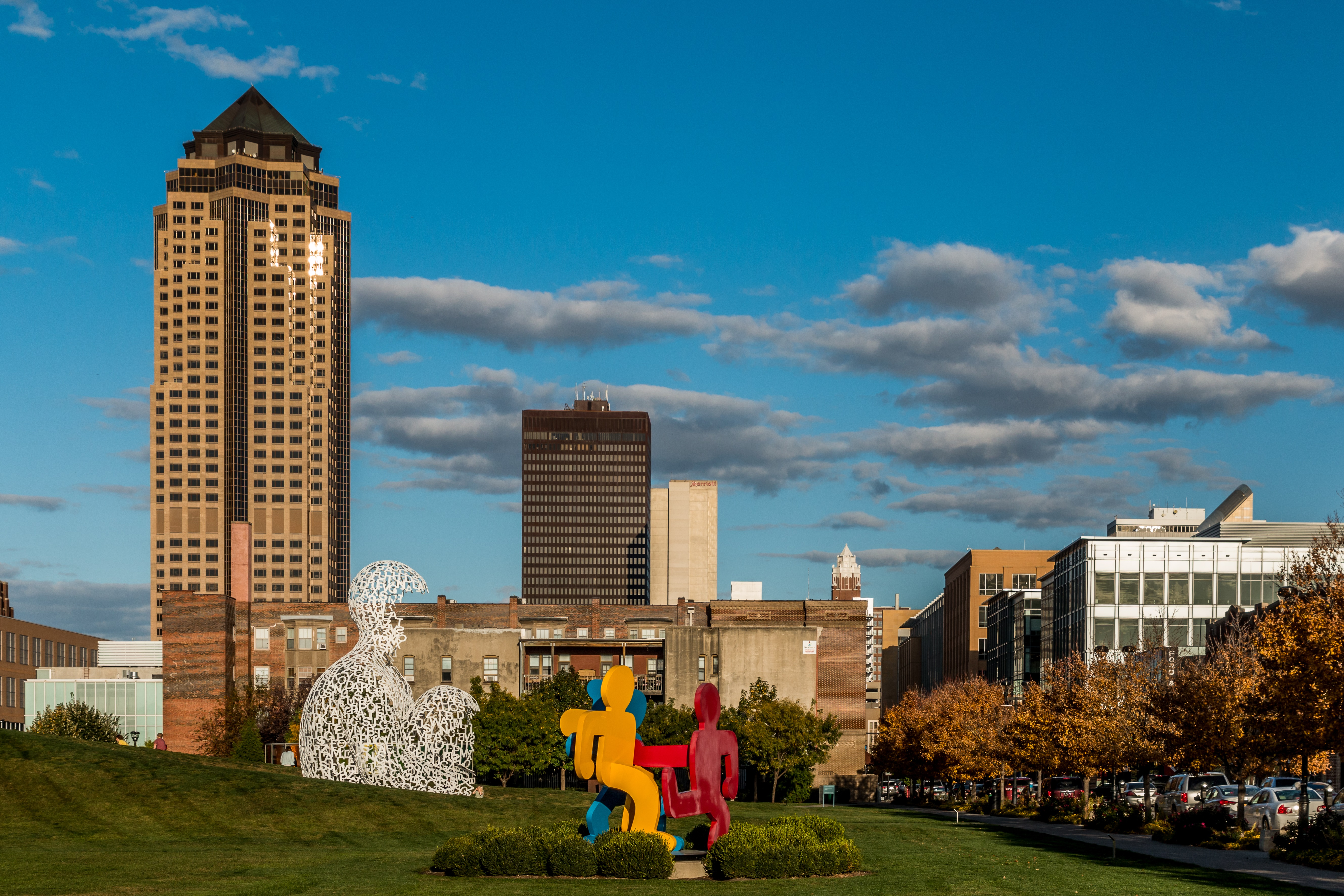 Free tours are given of the sculpture park in downtown Des Moines. One of my favorite free things to do in Des Moines!