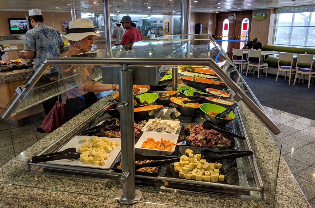 Bahamas Paradise Cruise review - buffets are the norm on a family cruise to the Bahamas.