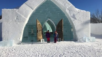 Ice hotel in Quebec while exploring Canada including Montreal.
