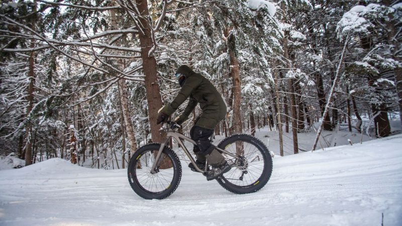 Have you gone bikingin the polar vortex?